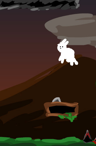 Helps the bunny! An Haxe platform/puzzle game